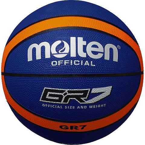 【取寄品】 モルテンGR7BGR7-BOブルー×オレンジ バスケットボール 7号球 ゴム molten