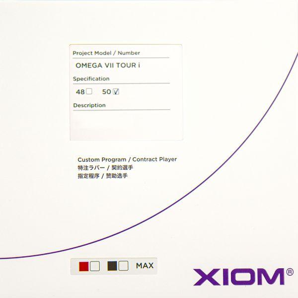 XIOM オメガVII オメガ7ツアーI 50 2021SS 卓球ラバー  ゆうパケット(メール便)対応