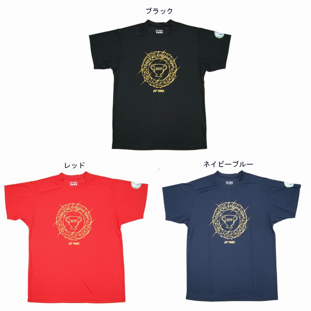ヨネックス オールイングランドオープン2019記念Tシャツ  YOB19110 2019SS 2019春夏