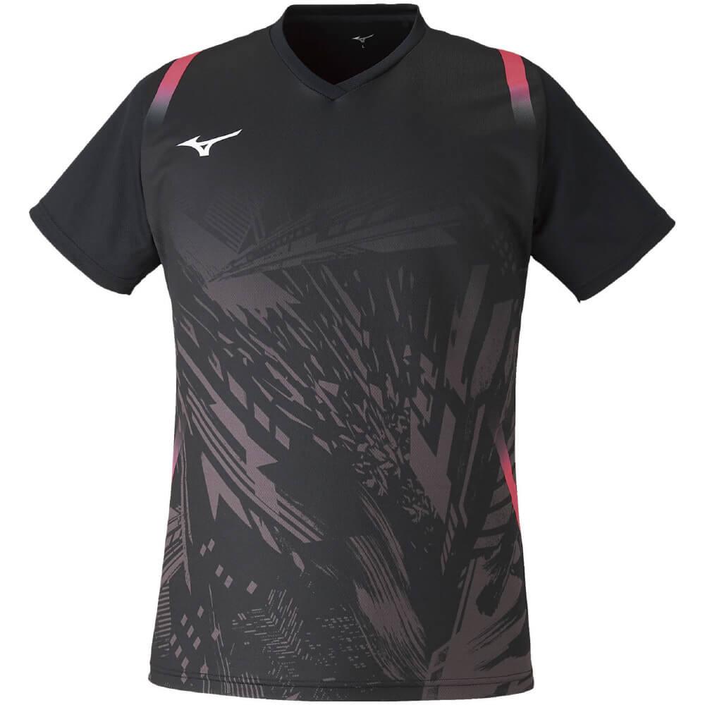 ミズノ クイックドライゲームシャツ 72MA0502 ユニセックス 2021SS ゆうパケット(メール便)対応 バドミントン テニス ソフトテニス