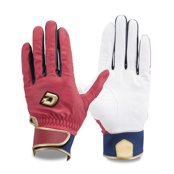 ウィルソン バッティング手袋 ディマリニ レッド/ネイビー WTABG0604 両手組 ゆうパケット対応 Wilson
