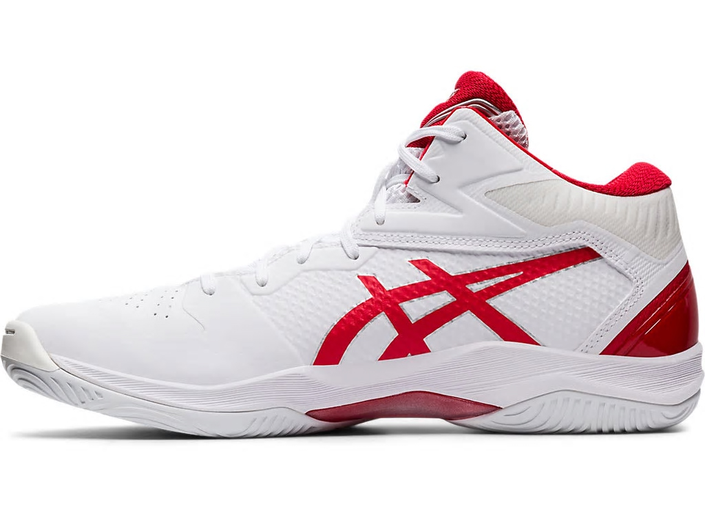 アシックス バスケットボールシューズ ゲルフープV12 ホワイト/クラシックレッド 1063A021-102 ユニセックス 2020SS 同梱不可 RFCL