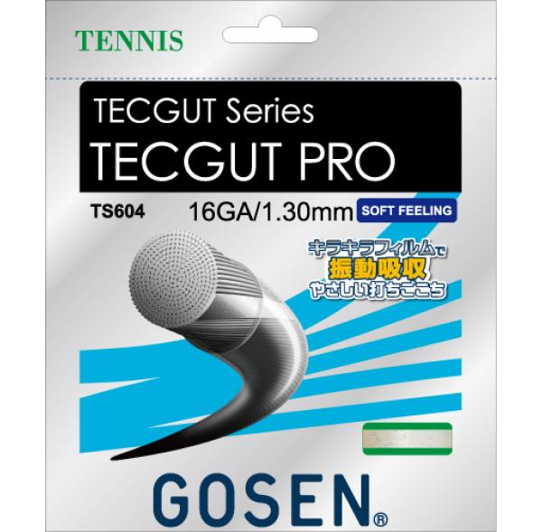 【取寄品】 ゴーセンTECGUT PRO 16 テックガットプロ 16 TS604テニス ストリング 硬式 GOSEN ゆうパケット対応