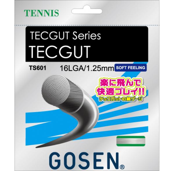 【取寄品】 ゴーセンTECGUT 16L テックガット 16L TS601テニス ストリング 硬式GOSEN 2016SS ゆうパケット対応