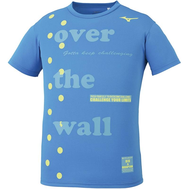 ミズノ グラフィックTシャツ V2MA0093 メンズ ユニセックス 2020SS バレーボール Tシャツ ゆうパケット(メール便)対応 練習着 半袖