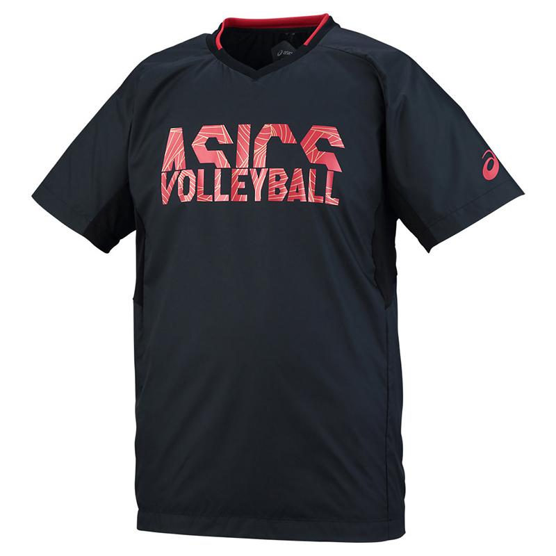 アシックス Tシャツ ウオームアップショートスリーブトップ XWW627 メンズ 2018SS バレーボール ゆうパケット(メール便)対応
