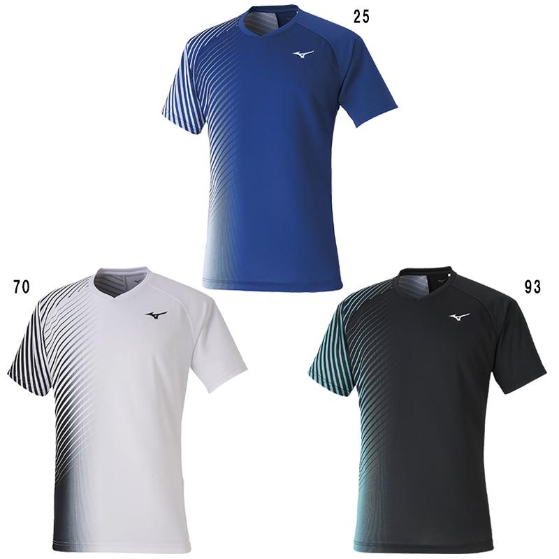 ミズノ ゲームシャツ 62JA0008 メンズ ユニセックス 2020SS バドミントン テニス ソフトテニス ゆうパケット(メール便)対応 半袖