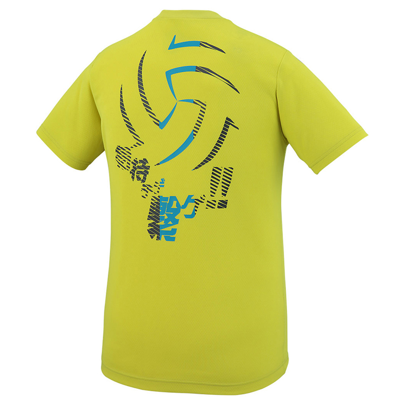 アシックス Tシャツ クールプリントショートスリーブトップ XW6745 メンズ ジュニア 2018SS バレーボール ゆうパケット(メール便)対応
