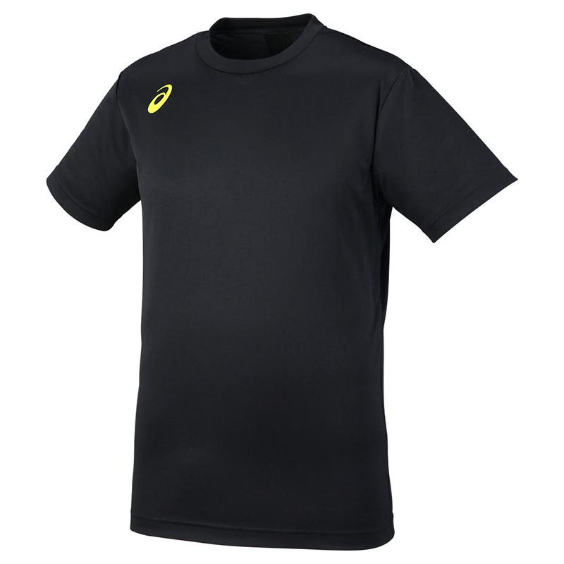 アシックス Tシャツ プリントショートスリーブトップ XW6743 メンズ ジュニア 2018SS バレーボール ゆうパケット(メール便)対応