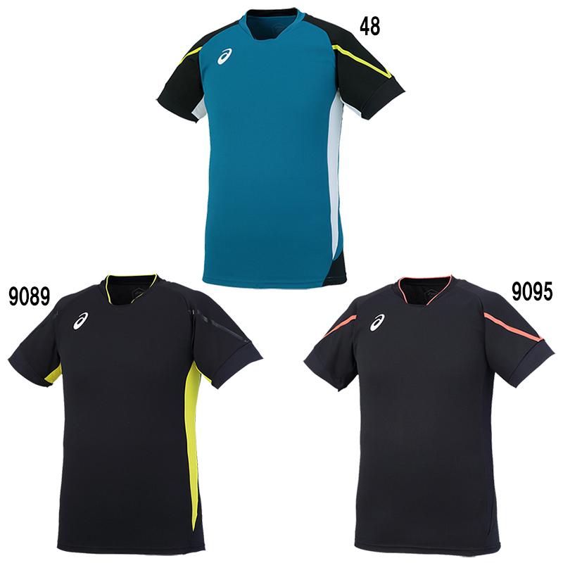 アシックス Tシャツ クールブレードプラクティスショートスリーブトップ XW6737 メンズ 2018SS バレーボール ゆうパケット(メール便)対応