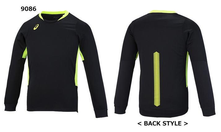アシックス 長袖ブレードプラシャツ XW6732 バレーボール ウエア 練習着 メンズ ユニセックス 男女兼用 ASICS 2017AW ゆうパケット(メール便)対応