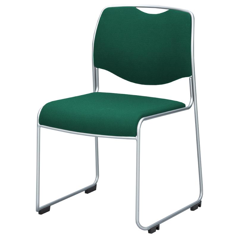 ミーティングチェア スタッキングチェア 会議用椅子 ループ脚 スチール シルバー 塗装脚 上級布 | I-DMC15ST-PXN