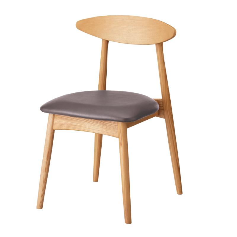 ミーティングチェア 木製チェア ラウンジ用椅子 4本脚 木 木製脚 座パッド付き レザー   I-ECLT-01V-N