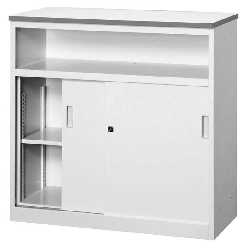 ハイカウンター W90 0引戸収納・中棚付き | I-ACV-9HST-G