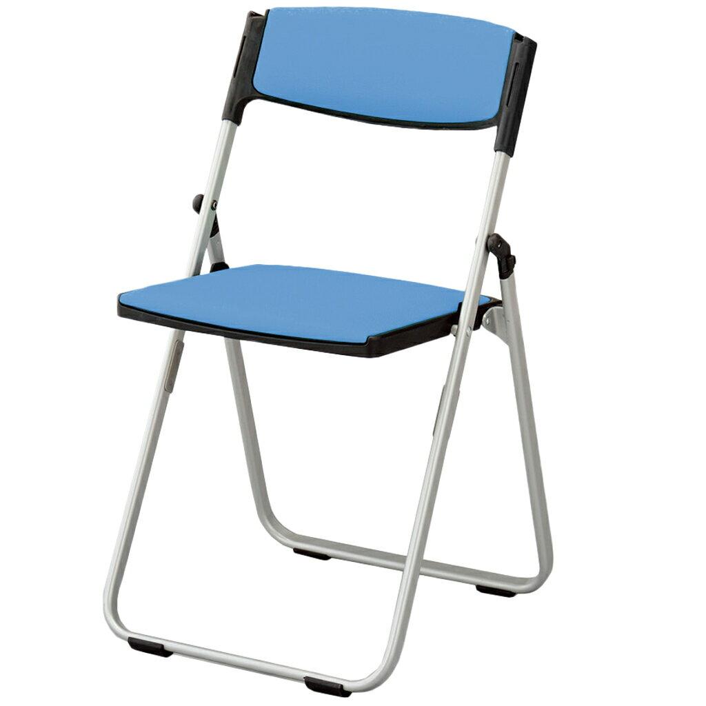 折りたたみ椅子 パイプ椅子 軽量 4.6kg コンパクト スチール脚   【10脚セット】 I-CAL-XS03S-V