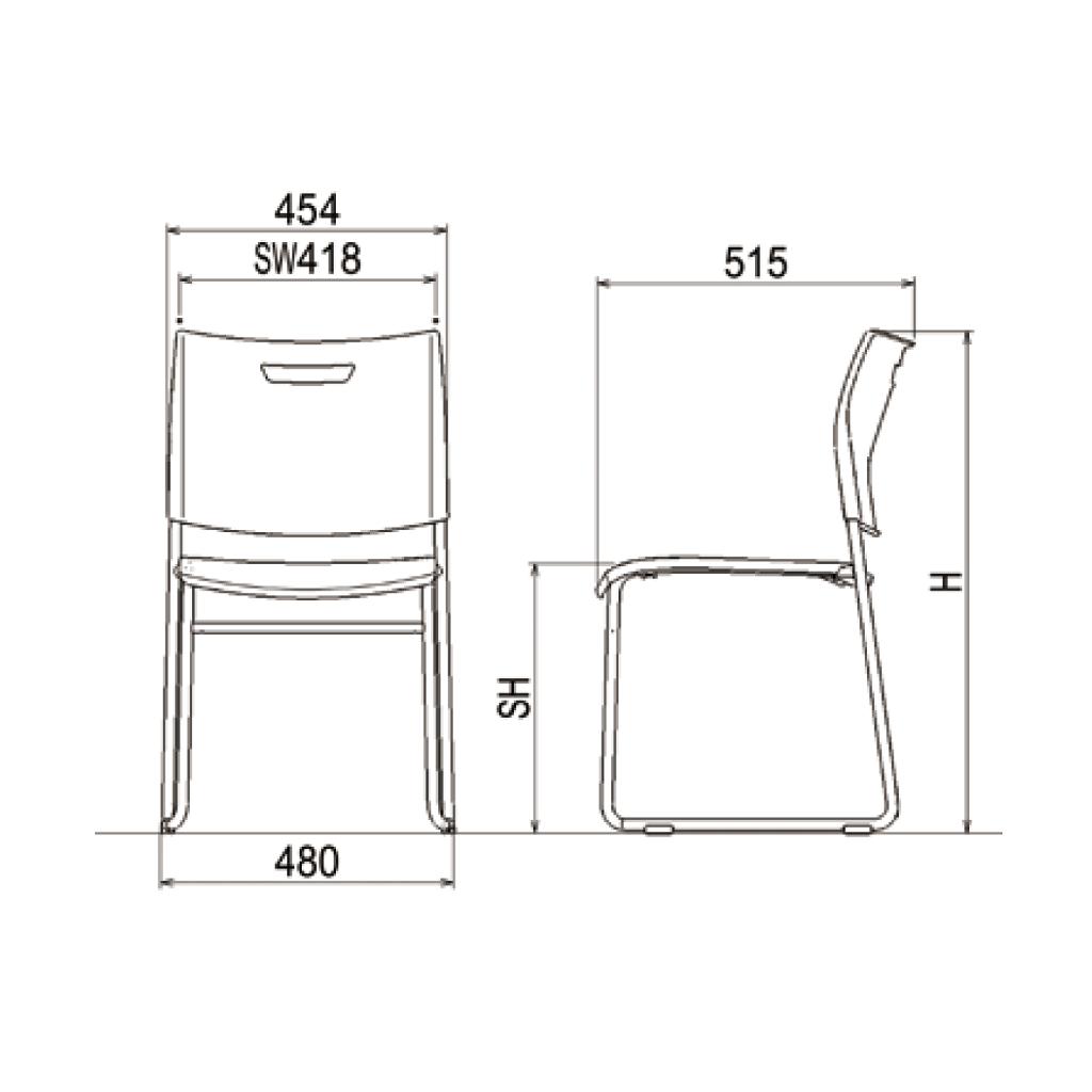 講義椅子 Cieda | I-CDA-44