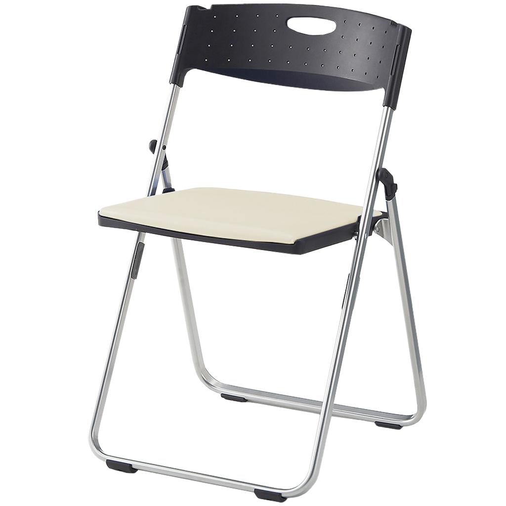 折りたたみ椅子 パイプ椅子 超軽量 2.8kg コンパクト アルミ脚 | I-CAL-X02S-V