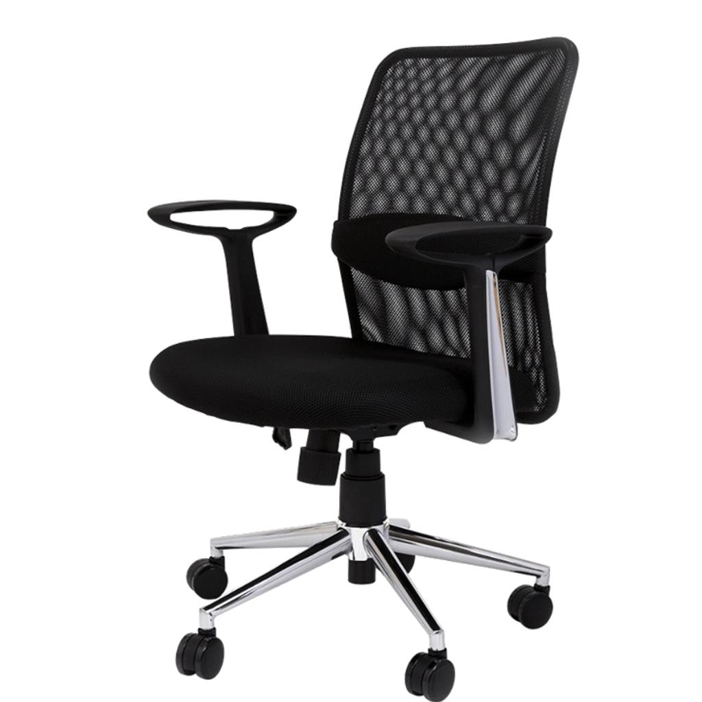 オフィスチェア デスクチェア 事務椅子 肘付き ミドルバック メッシュ   I-OFC-05