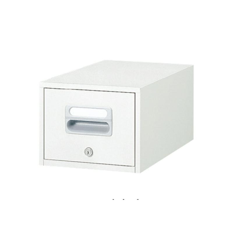 ファイリングキャビネット 1段 鍵付き A5ファイル対応   I-A5-11W