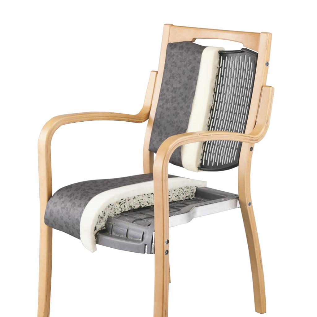 福祉椅子 介護椅子 肘付き ダーク フィーノ   I-フィーノHG-FD