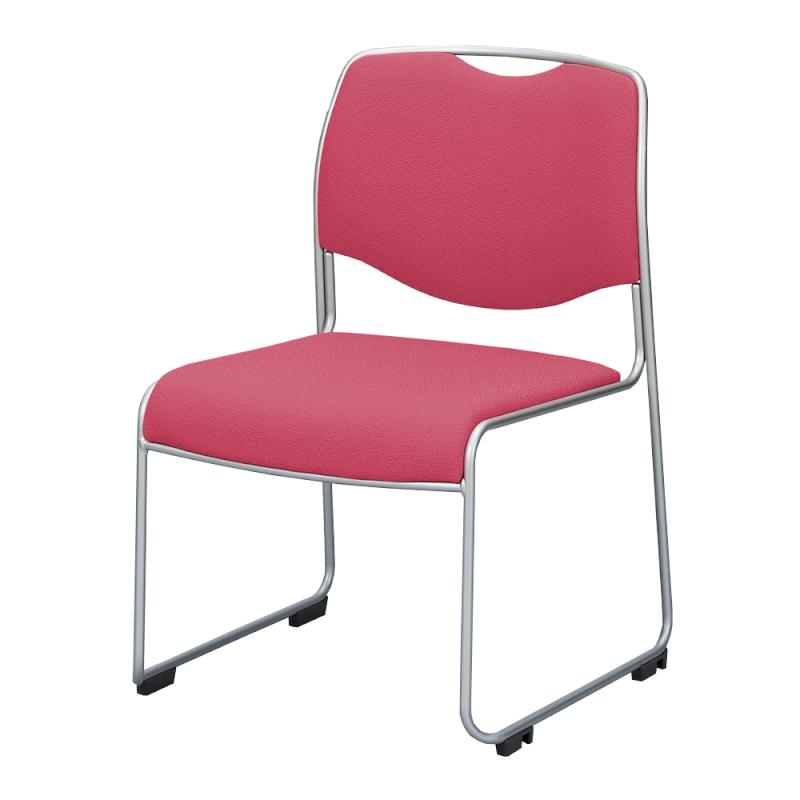 ミーティングチェア スタッキングチェア 会議用椅子 ループ脚 スチール シルバー 塗装脚 布 | I-DMC25ST-SJN