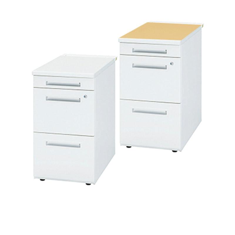 オフィスデスク 事務机 脇机 3段 鍵付き W700 D400 H700 | I-TC50CNL-047