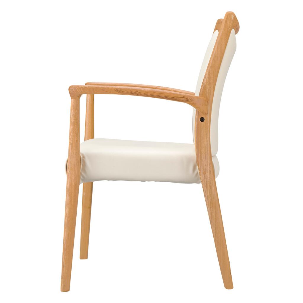 福祉椅子 介護椅子 肘付き ナチュラル エレン | I-エレンチェアMN