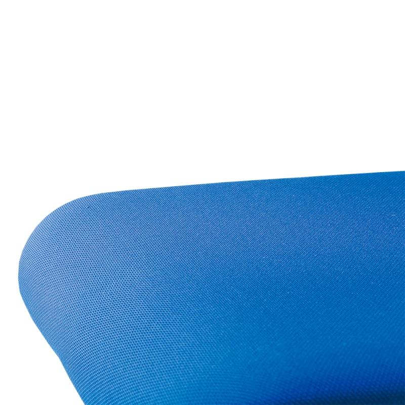 ミーティングチェア スタッキングチェア 会議用椅子 ループ脚 スチール シルバー 塗装脚 上級布 | I-DMC25ST-PXN
