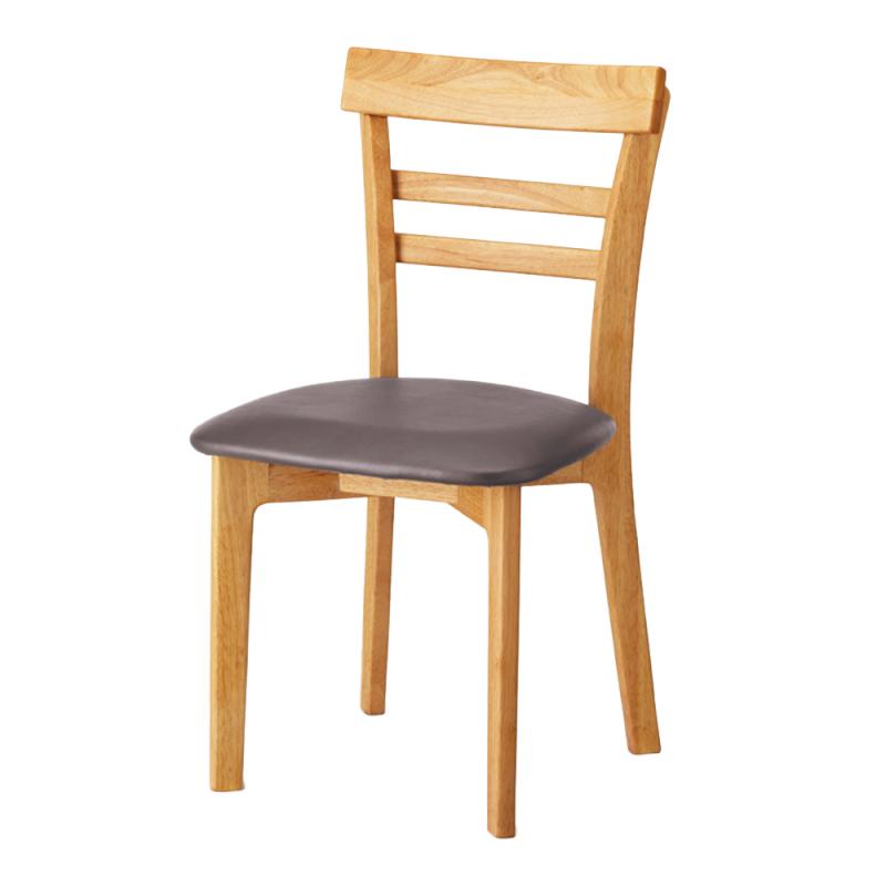 ミーティングチェア 木製チェア ラウンジ用椅子 4本脚 木 木製脚 座パッド付き レザー | I-ECLT-03V-N