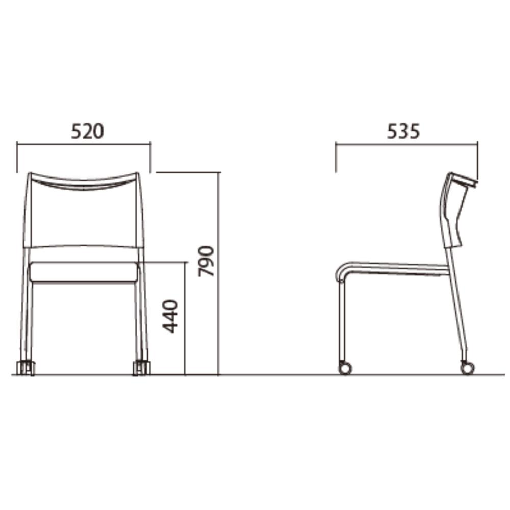 ミーティングチェア スタッキングチェア 会議用椅子 | 【4脚セット】 I-LTS-4PC-F