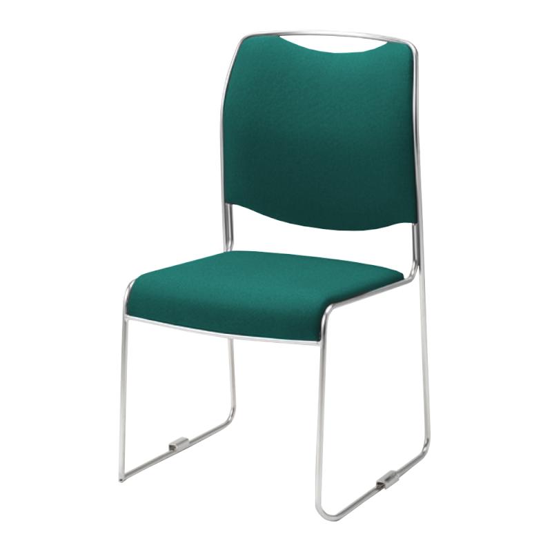 ミーティングチェア スタッキングチェア 会議用椅子 ループ脚 ステンレス メッキ脚 レザー | I-DMC30-LYL