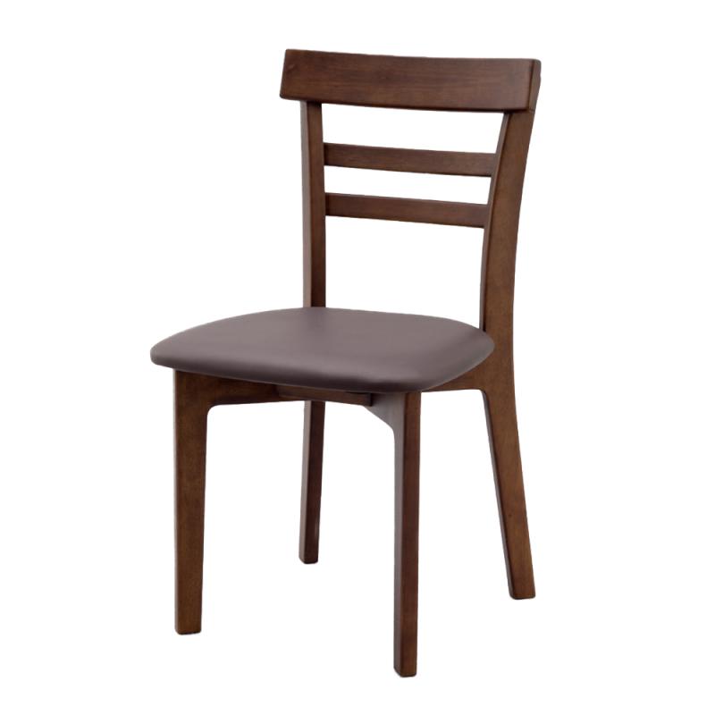 ミーティングチェア 木製チェア ラウンジ用椅子 4本脚 木 木製脚 座パッド付き レザー   I-ECLT-03V-D