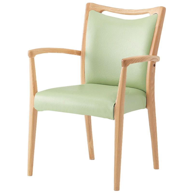 福祉椅子 介護椅子 肘付き コンパクト ナチュラル エレン | I-エレンSN