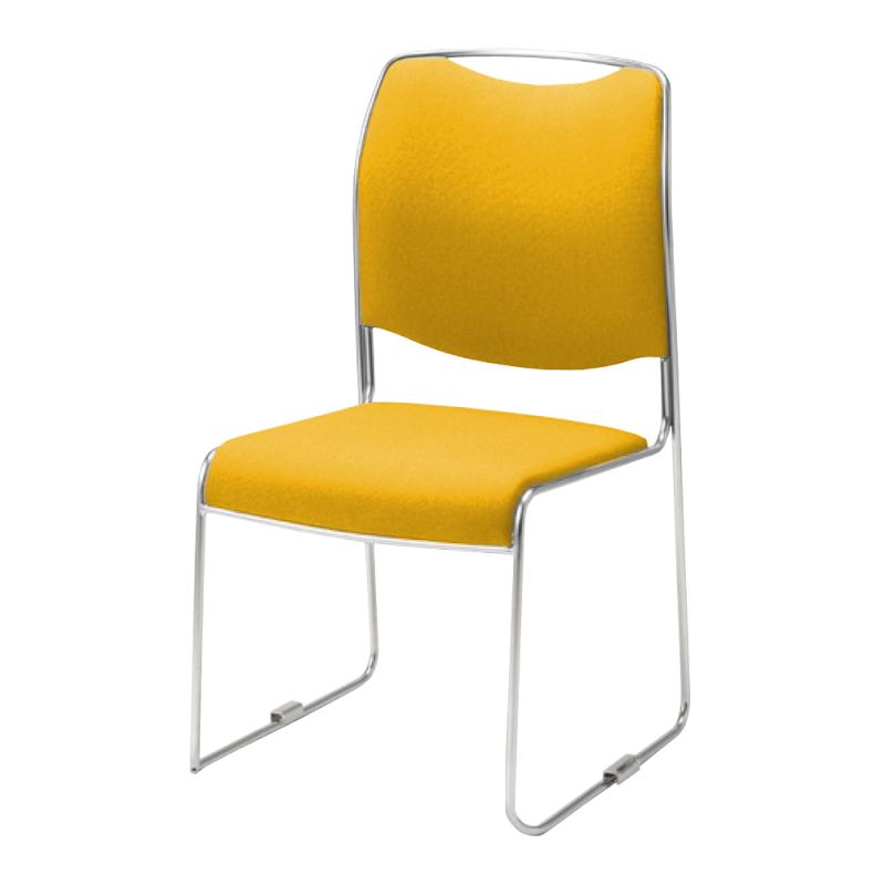 ミーティングチェア スタッキングチェア 会議用椅子 ループ脚 ステンレス メッキ脚 布 | I-DMC30-SJN