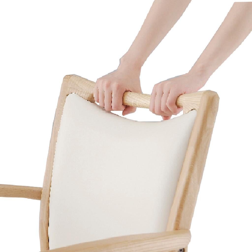 福祉椅子 介護椅子 肘付き コンパクト ダーク エレン   I-エレンSD