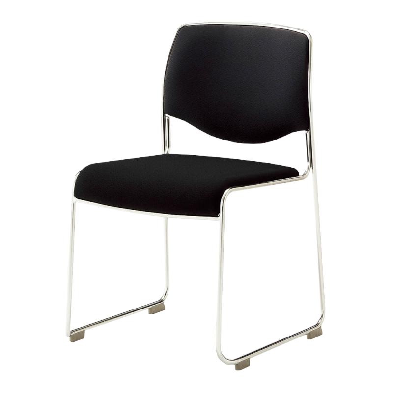 ミーティングチェア スタッキングチェア 会議用椅子 ループ脚 ステンレス メッキ脚 上級布   I-DMC30-PXN