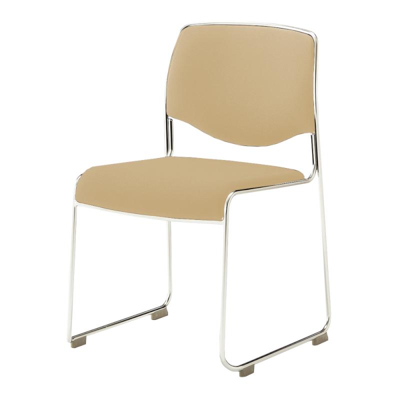 ミーティングチェア スタッキングチェア 会議用椅子 ループ脚 ステンレス メッキ脚 上級布 | I-DMC30-PXN