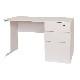 【デスクセット】 リーズナブル 木製デスク 片袖机 幅120cm×奥行70cm + オフィスチェア | I-MOD-K1270+OFC-01