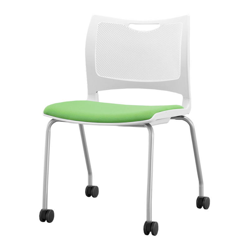 ミーティングチェア 会議用椅子 4本脚 スチール シルバー 塗装脚 布 | I-MC4C-02-F