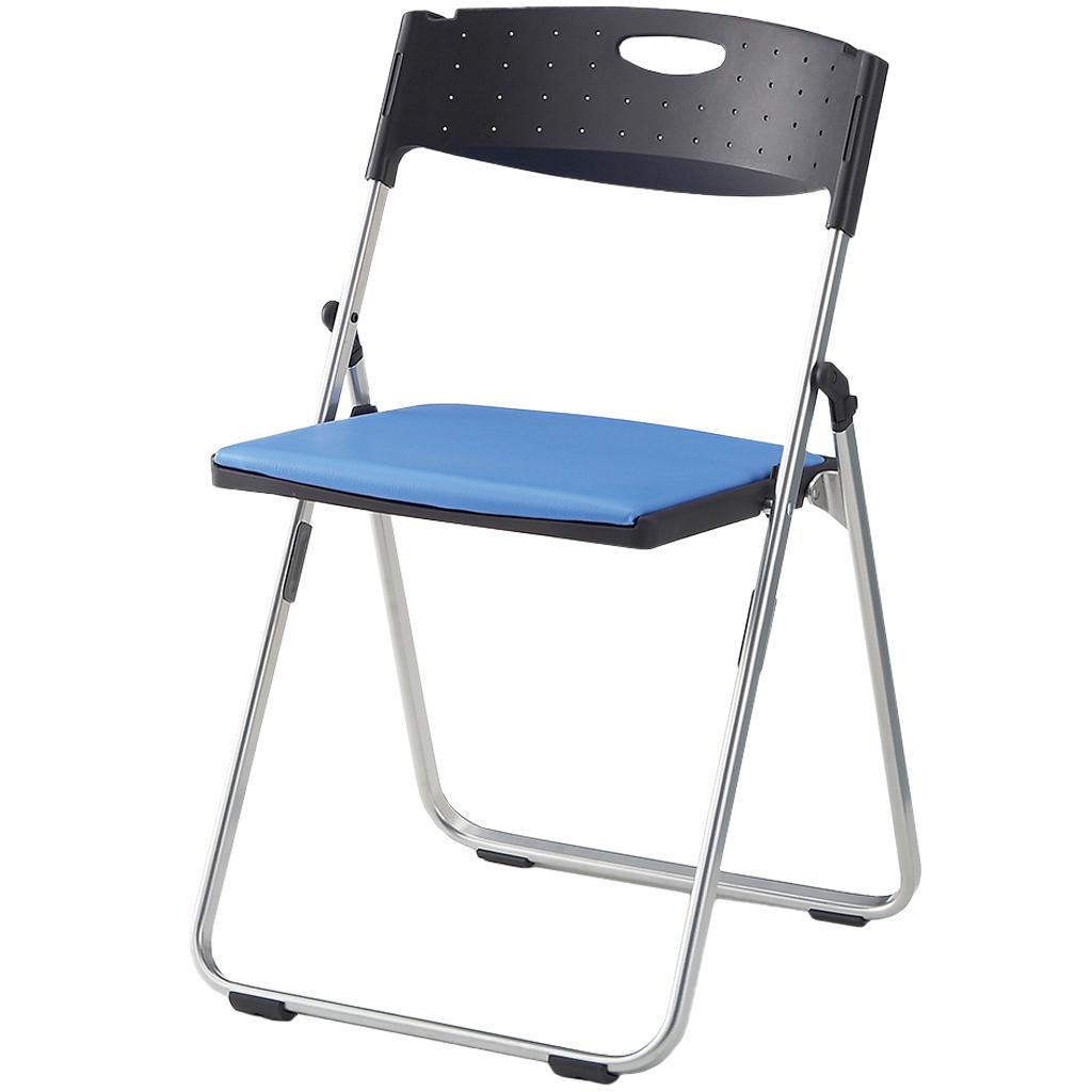 折りたたみ椅子 パイプ椅子 軽量 4.4kg スチール脚 | I-CAL-XS02M-V