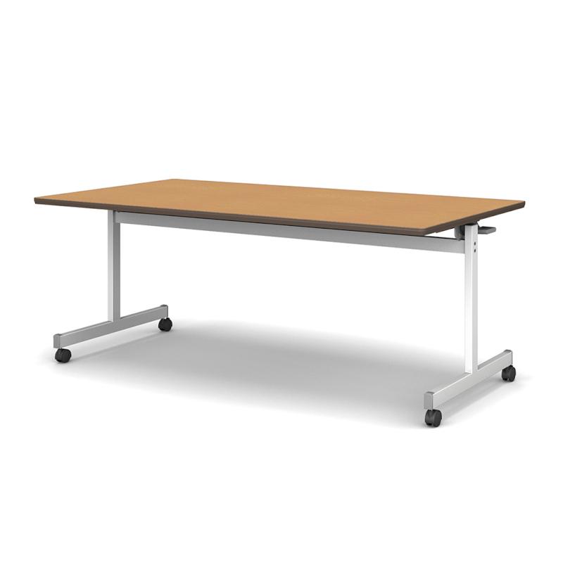 会議用テーブル キャスター付き W1500 D750 H700 T型 | I-FTX−W1575
