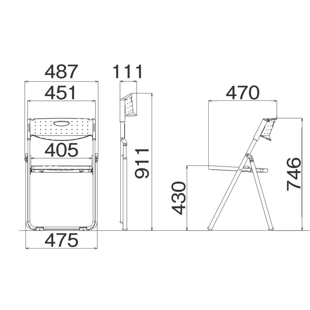 折りたたみ椅子 パイプ椅子 超軽量 2.5kg アルミ脚 | 【10脚セット】 I-CAL-X01M