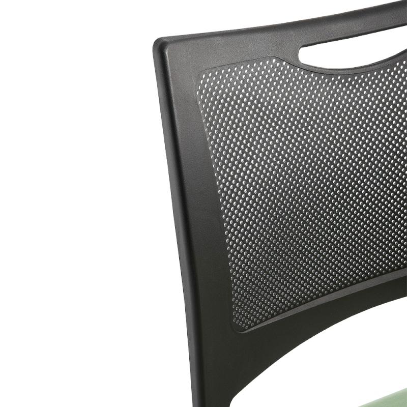 ミーティングチェア 会議用椅子 カンチレバー脚 スチール シルバー 塗装脚 布 | I-MCC-02-F