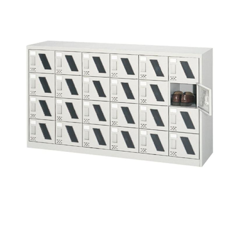 シューズボックス 下駄箱 6列4段 24人用 錠なし 窓付扉タイプ | I-ASC-24M