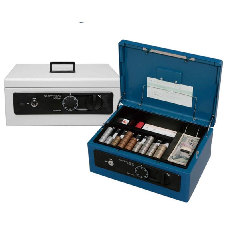 金庫 手提げ金庫 キャッシュボックス ダイヤル錠+シリンダー錠式 卓上 A4サイズ   I-SBX-A4