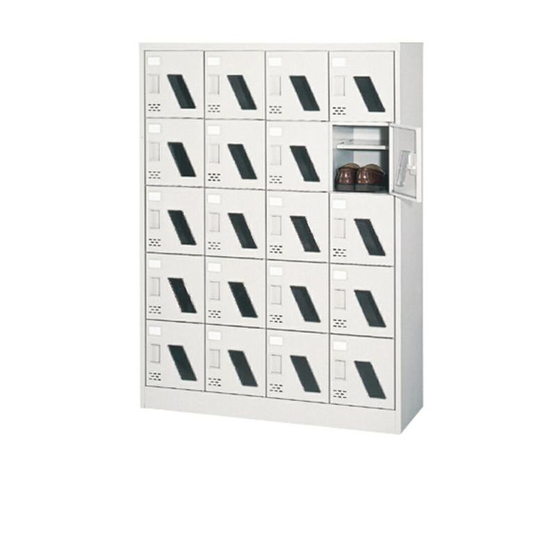 シューズボックス 下駄箱 4列5段 20人用 錠なし 中棚付き | I-ASC-20WM