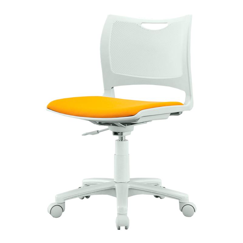 ミーティングチェア 会議用椅子 回転脚 スチール ガス圧シリンダー脚 キャスター付き 布 | I-MCK-02-F