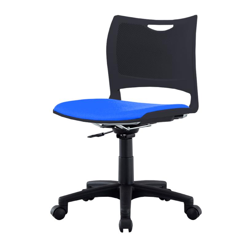 ミーティングチェア 会議用椅子 回転脚 スチール ガス圧シリンダー脚 キャスター付き 布   I-MCK-02-F