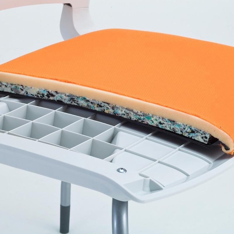 ミーティングチェア 会議用椅子 回転脚 スチール ガス圧シリンダー脚 キャスター付き 肘付き 布 | I-MCKA-02-F
