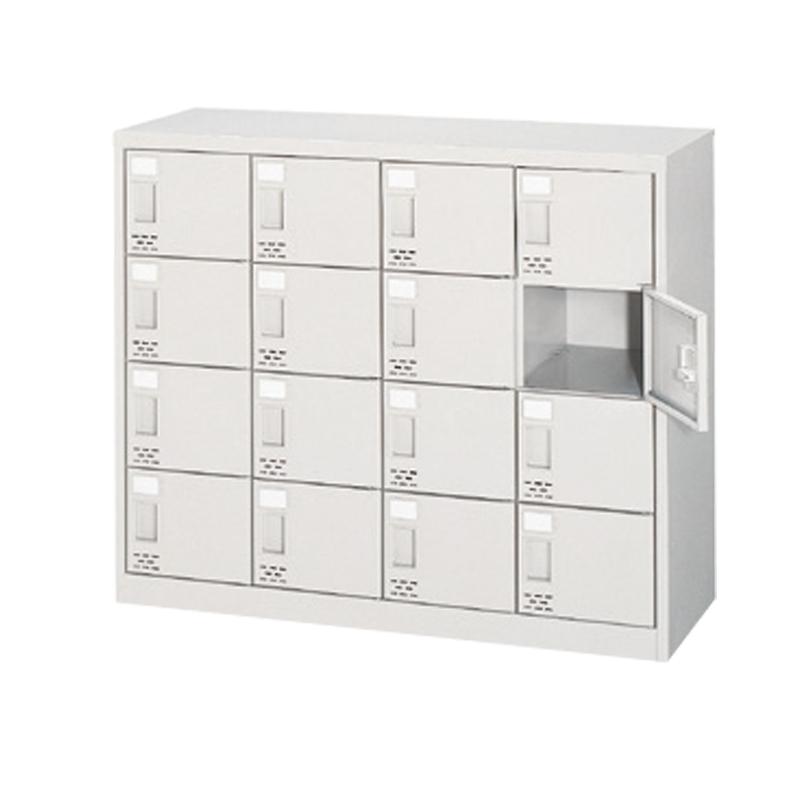 シューズボックス 下駄箱 4列4段 16人用 錠なし 扉付きタイプ | I-ASC-16